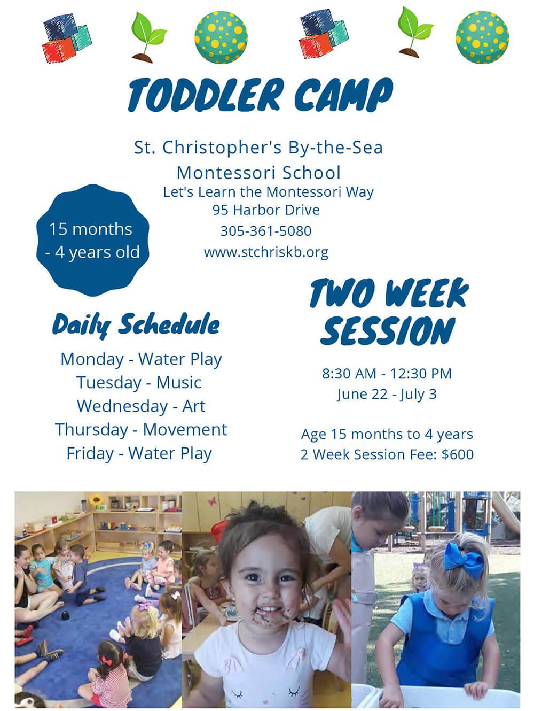 toddler camp flyer